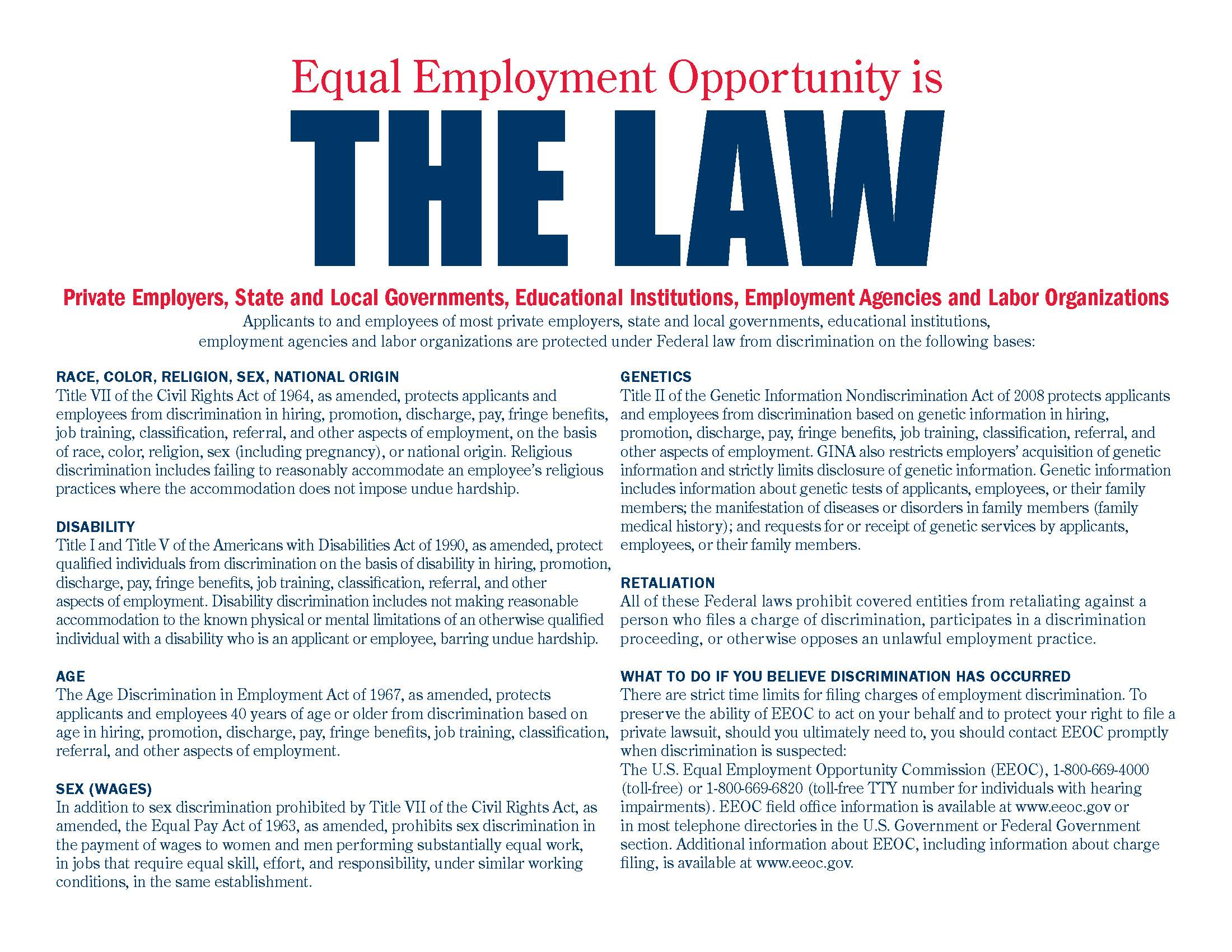 Thesis equal employment opportunity